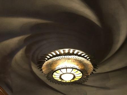 The living room ceiling in Casa Batllo