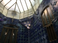 Detail of the interior light well in Casa Batllo