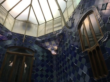 Detail of the interior light well in Casa Batllo