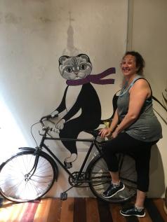 Sue hitches a ride