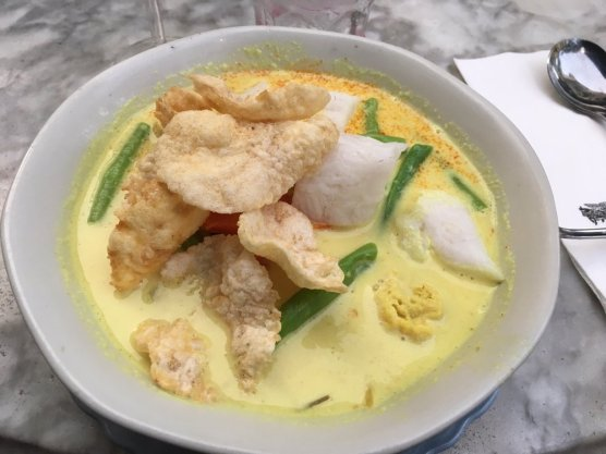 Coconut veggie stew with tofu