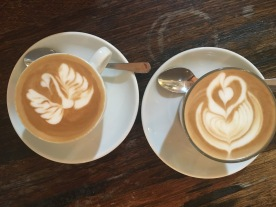 Some of the many delicious lattes