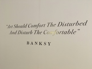 From a local Banksy exhibit