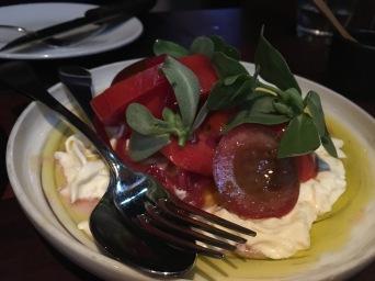 Heirloom tomatoes with burrata