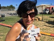 "Enjoying a ""nutella burger"" at a food truck festival"