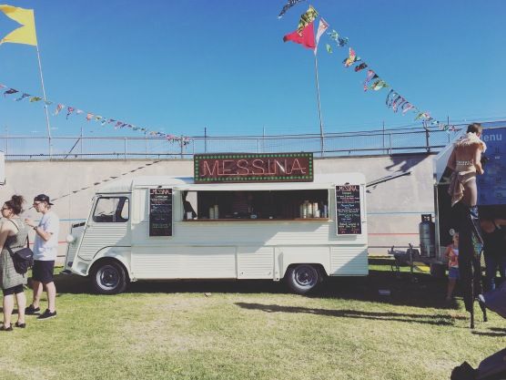 A gelato truck at the Coburg Velodrome Food Truck Festival