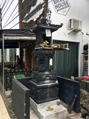 These small shrines were every few shops