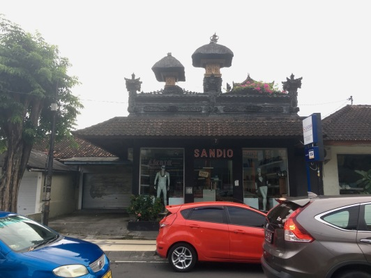 Shops seemed to be built in and around them