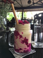 Dragonfruit and banana smoothie