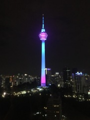 Our room has a great view of the KL Tower