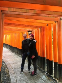 At the famous Fushimi Inari Shrine