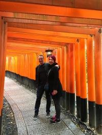 At the famous Fushimi Inari Shrine