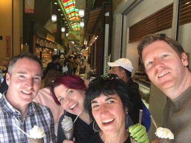 Our favourite ice cream spot - Beth is having black sesame.