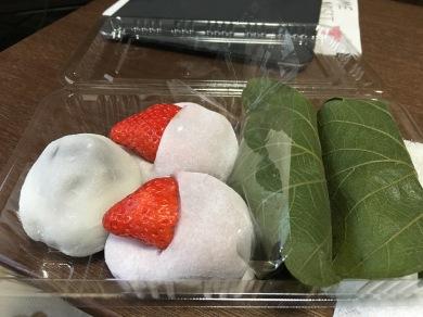 It was strawberry mochi season, which I took full advantage of.